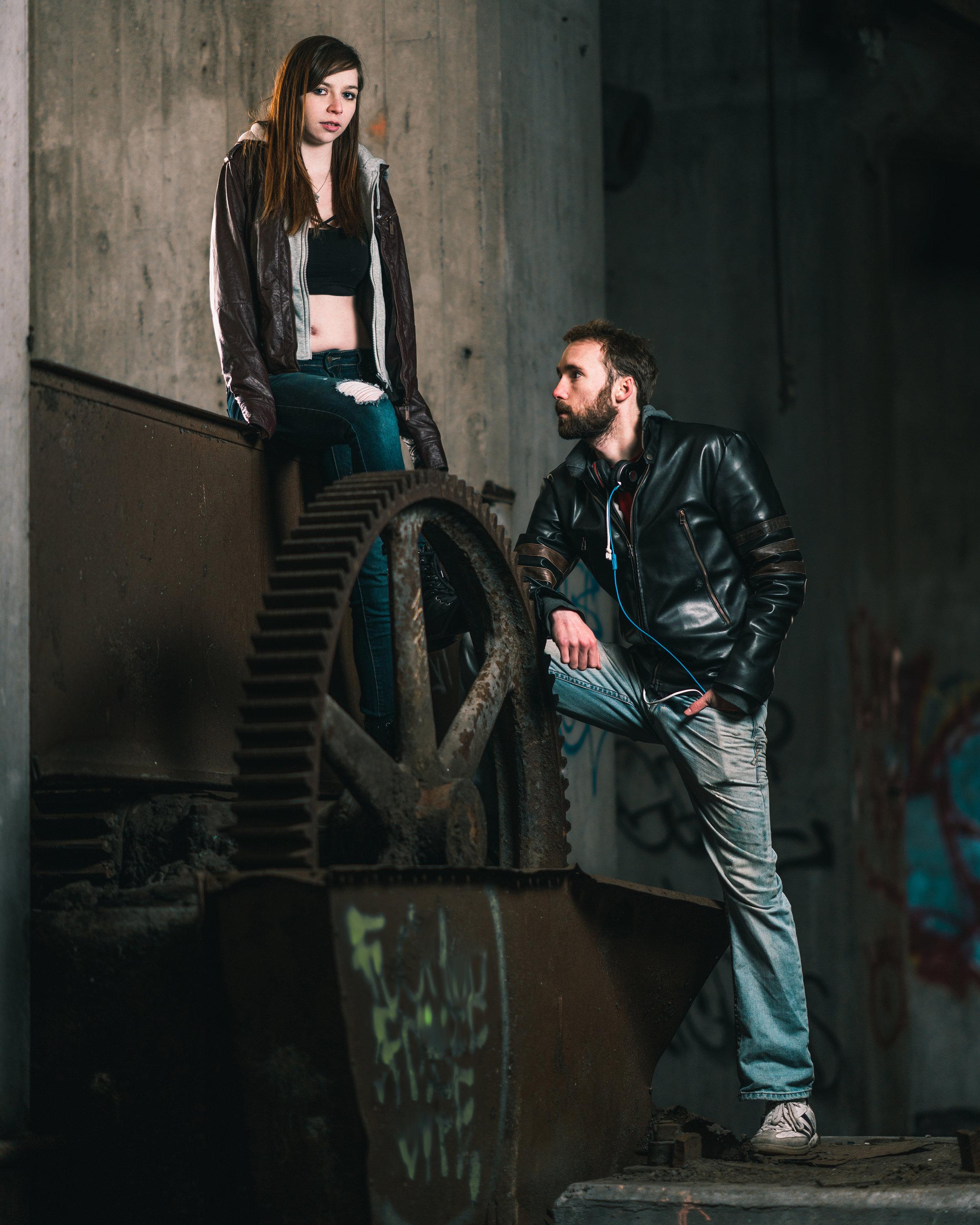 """Mechanical Duet"" - modeling by @juniperskyemodel & Jeff Parfitt"