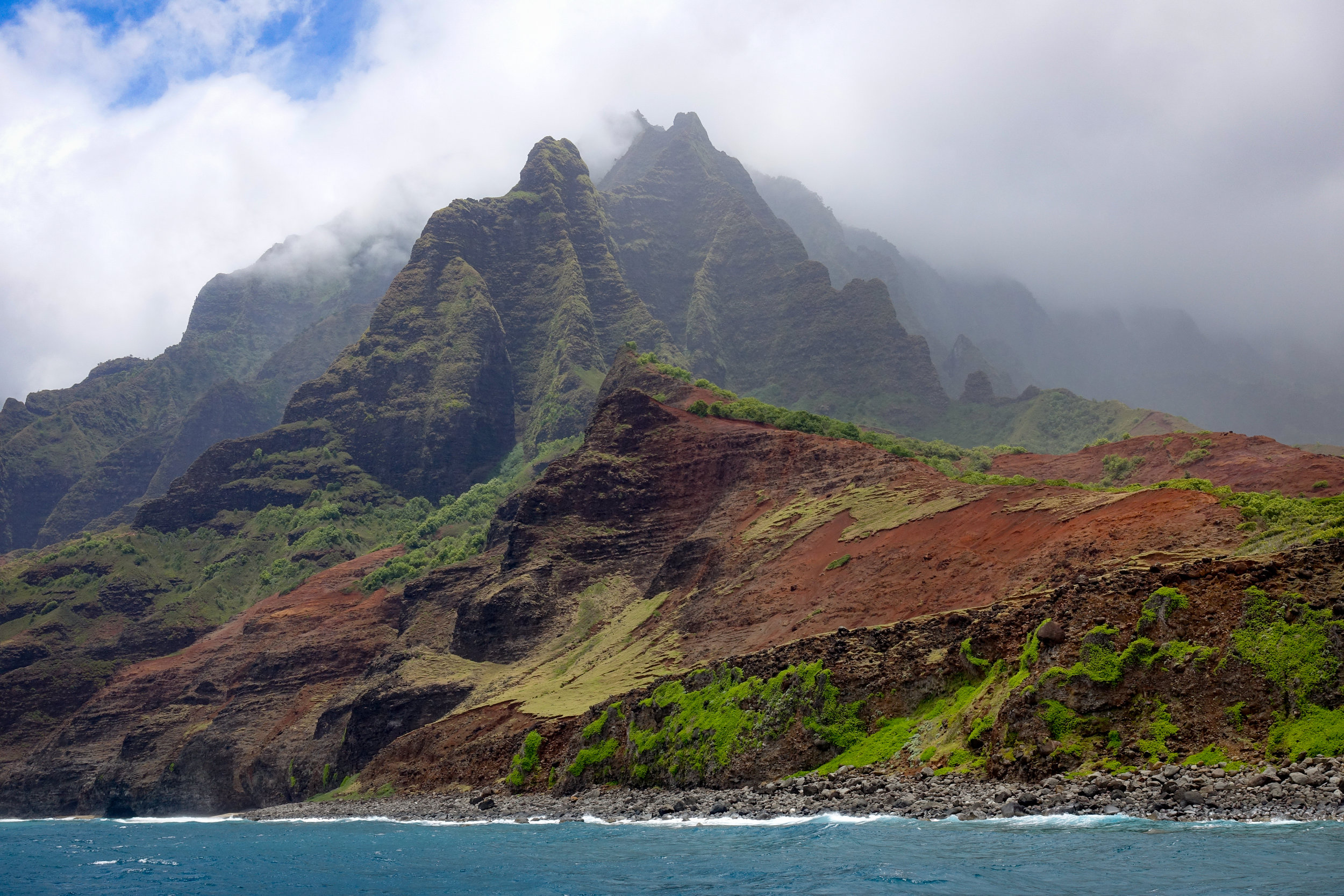 The Na Pali Coast in Hawaii