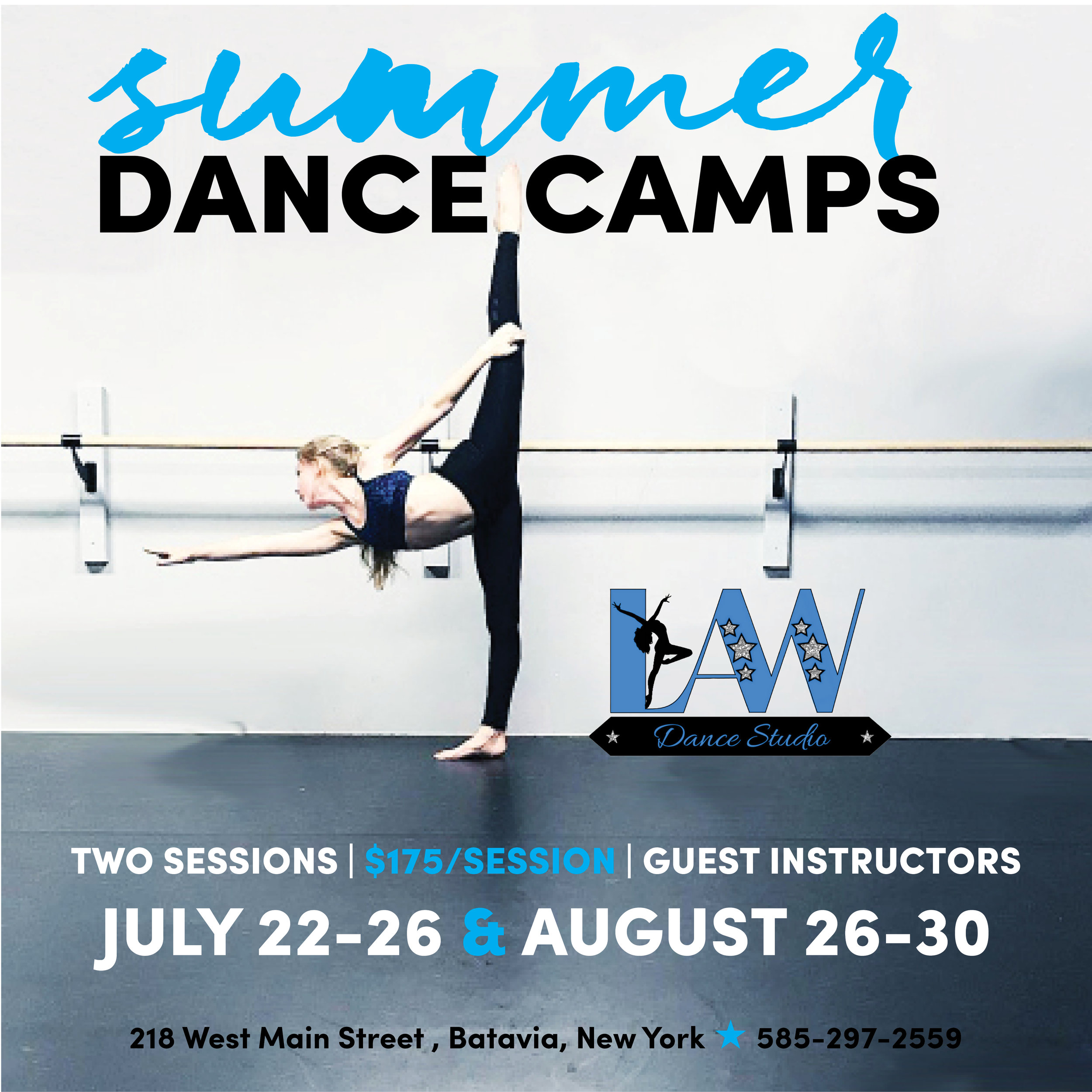 Dance Camp Sessions - Two sessions available.
