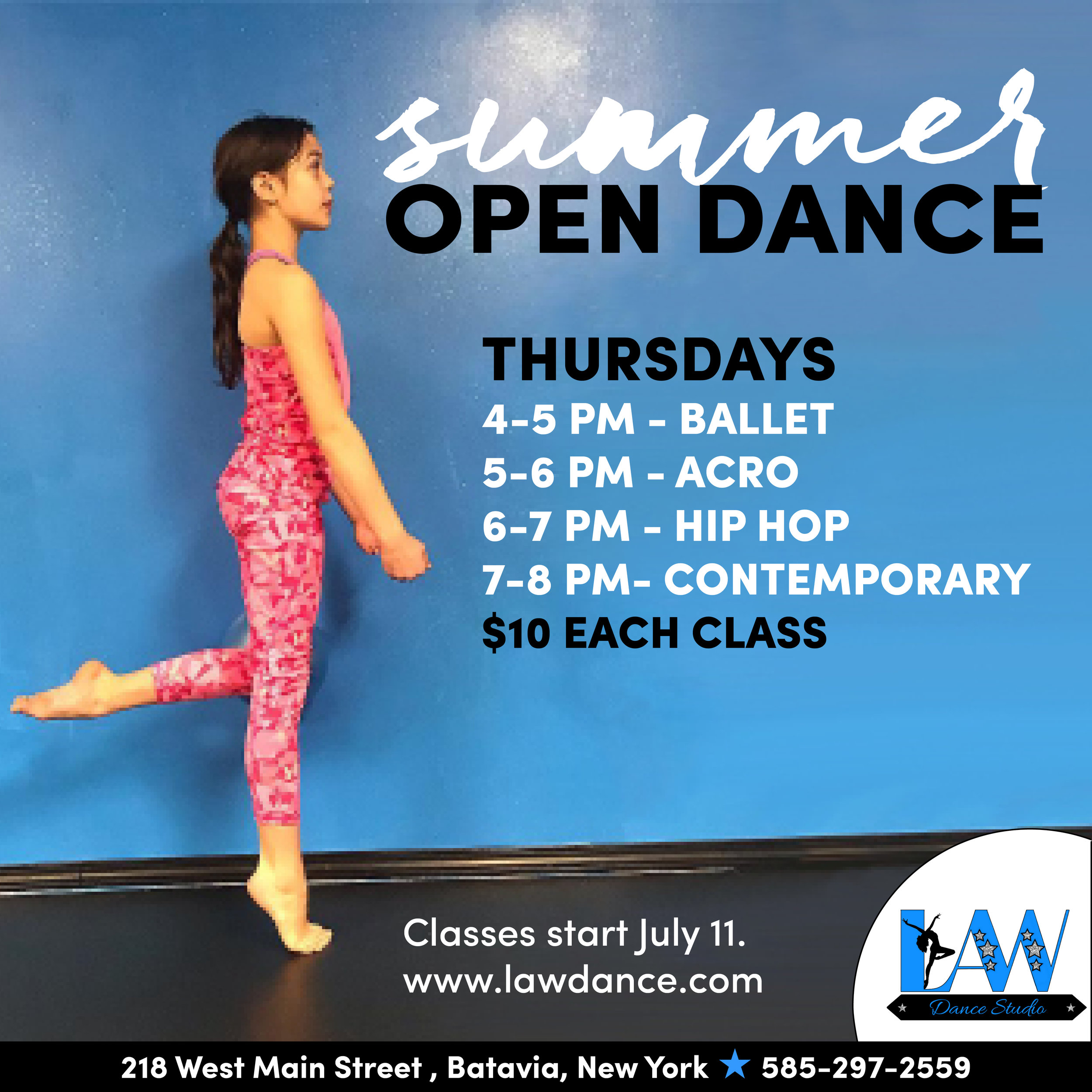 Open Dance Classes - Weekly on Thursdays