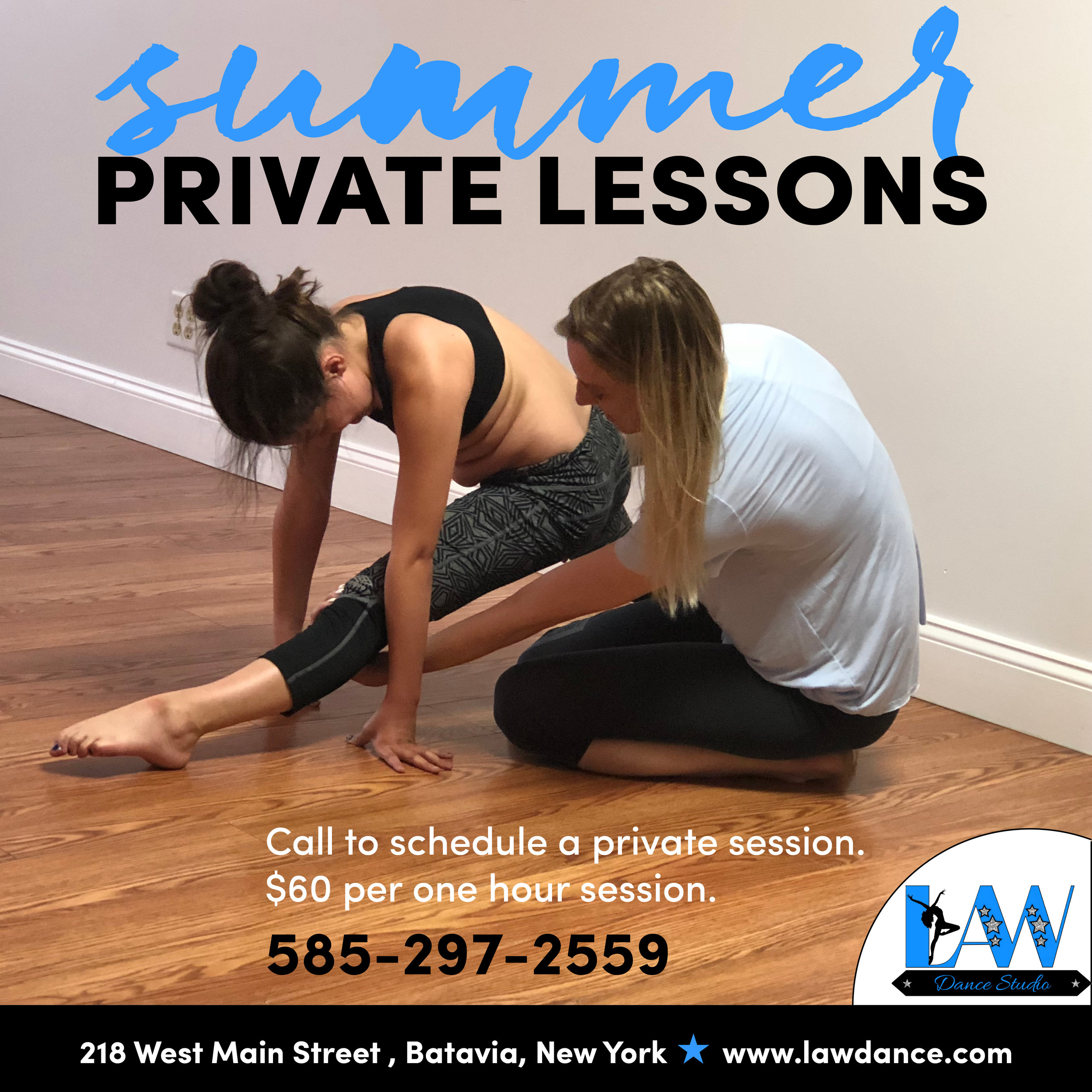 Private Dance Lessons - Schedule a specific time.