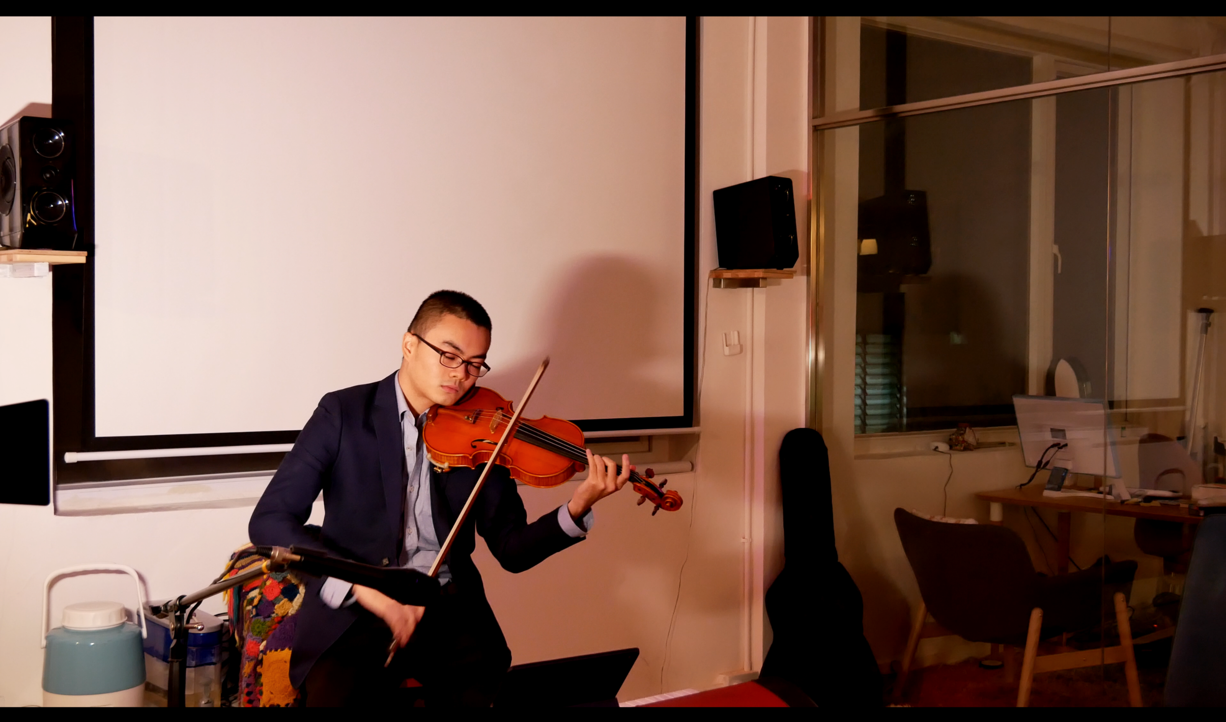 Open Mic Night     Andrew L. performing Bach 11.30.2018
