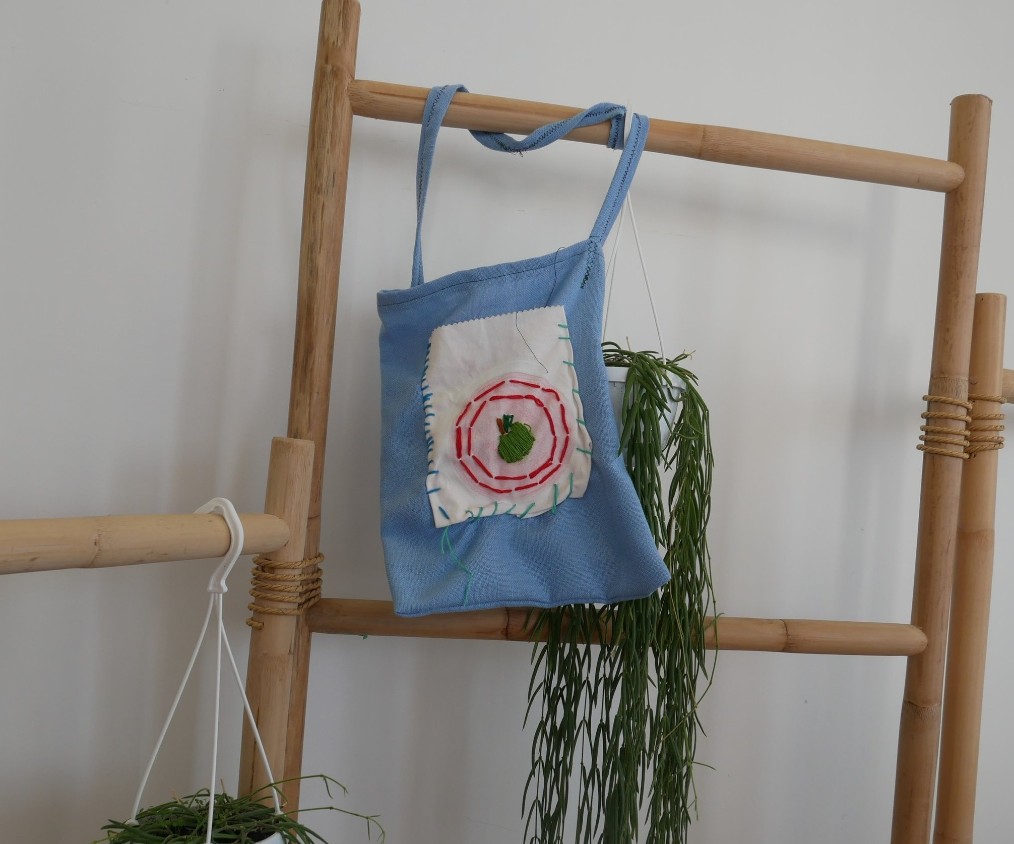 Embroidered Apple Tote  by Eliana Giancotti  HK$10,000