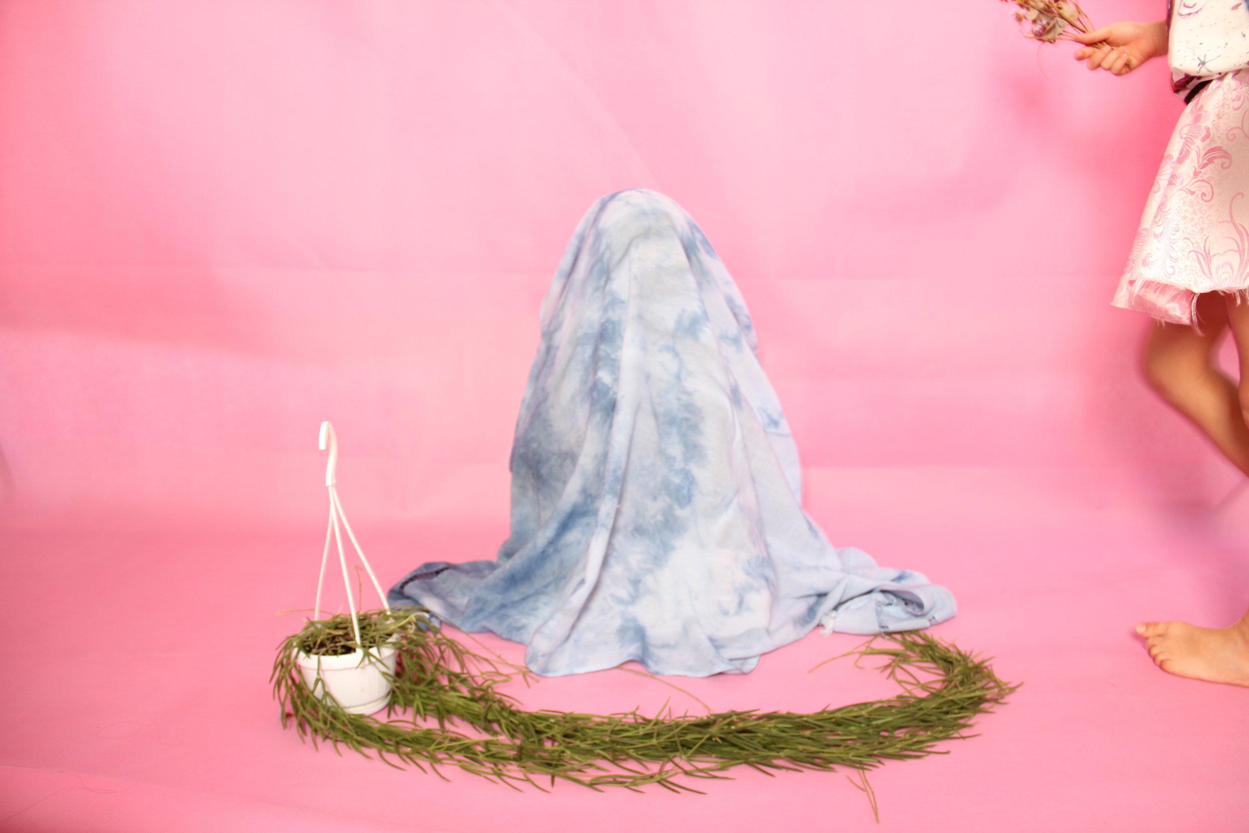 Shibori Dyed Linen Scarf  by Sophia Li  HK$99,999 (out of stock)