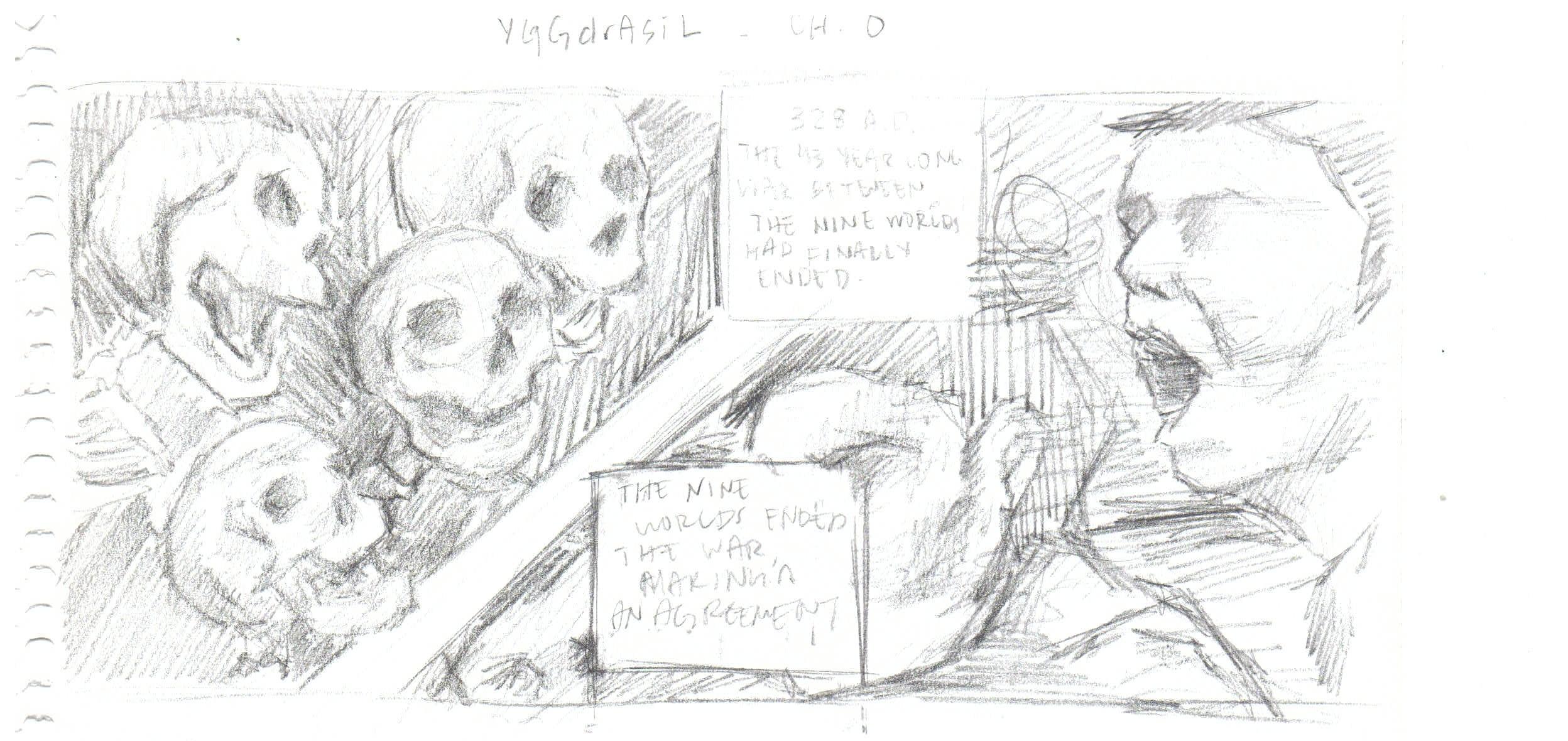 Yggdrasil Draft , 2017. Pencil on Paper