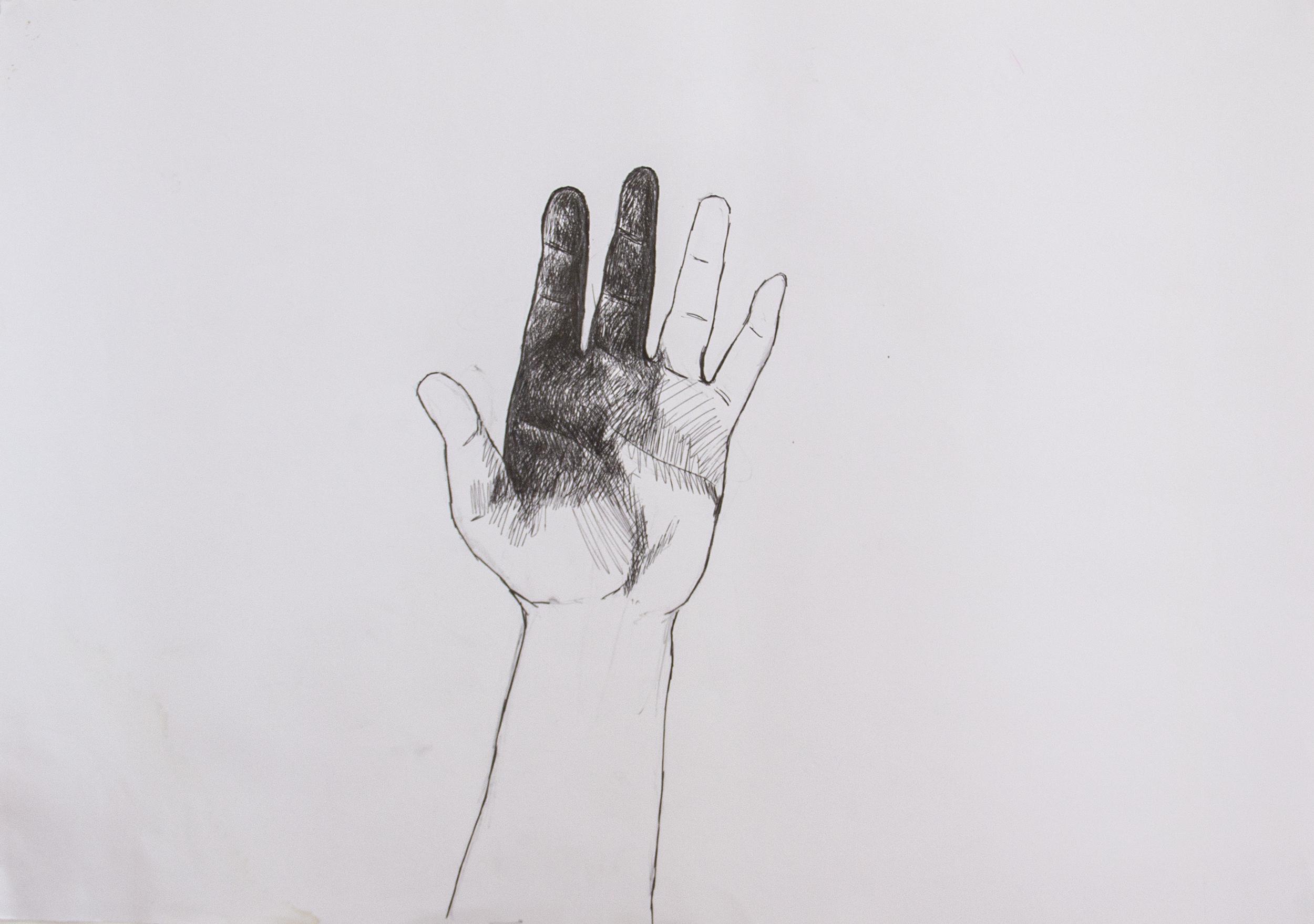Left 1,  2016. Pen on Paper