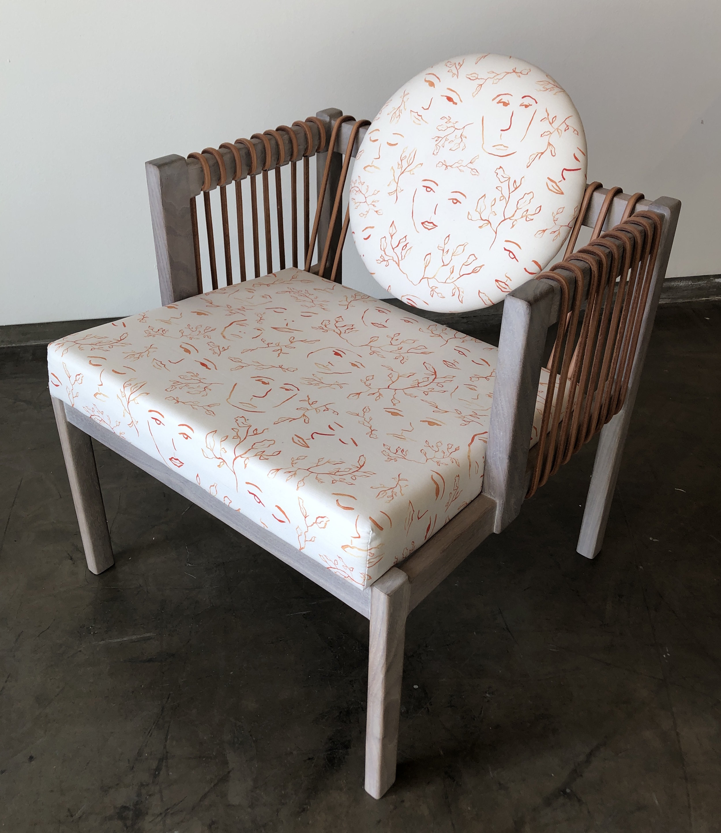 Orange Satyr Fabric - Thomas Hayes Studio Chair.JPG