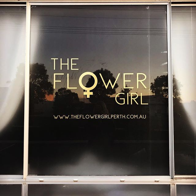 Gold window decal for @theflowergirlperth studio