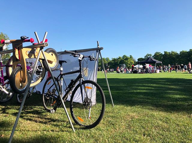 Don't be too jealous. Tonight, we're parking bikes for a free screening of Spider-Man: Into the #Spiderverse at Connaught Park. It's a beautiful night out, so ride on the 10th Ave Bike Lane all the way here and enjoy the movie.