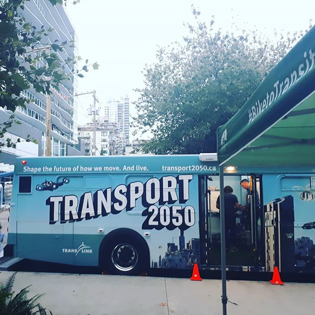 We got to check out the #transport2050 bus this evening at the RailVolution 2019 Opening Reception and see what transportation in Metro Vancouver could look like in the next 30 years!