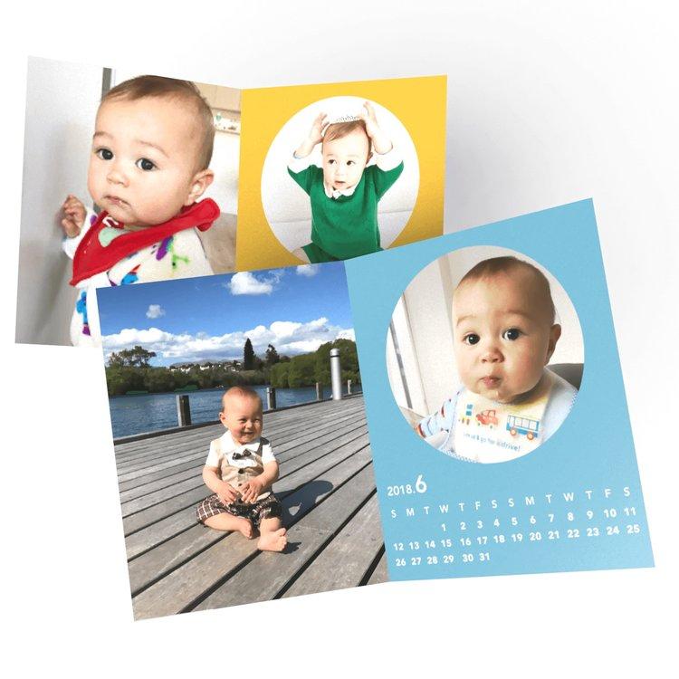 毎月子供の写真をアプリで選ぶだけ、両親に送って親孝行もできるカレンダー - ¥250 (毎月1冊無料)家族の写真を毎月カレンダーにして、両親に親孝行しましょう子供やペットなど、あなたの大切な家族の写真を、おしゃれなカレンダーにして飾ることができます。両親にも送って、毎月の成長記録を、家族全員で楽しみましょう。お試しは3枚まで、送料も無料です。(2回目以降は、毎月1枚無料、送料別)