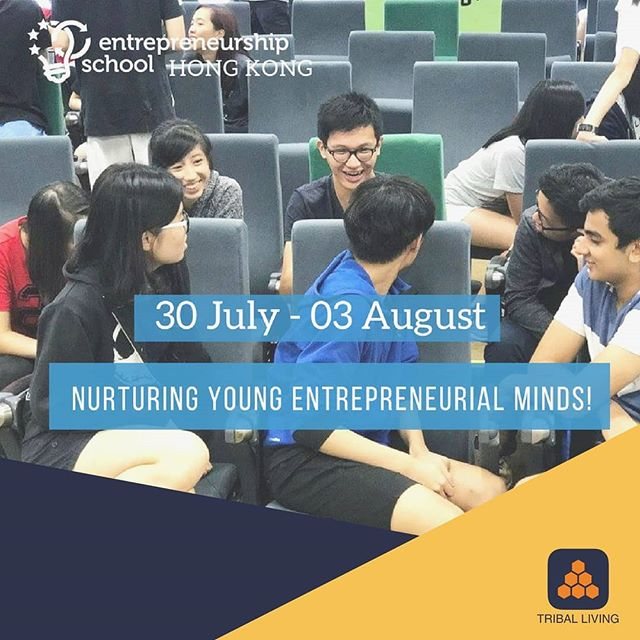 @entreprenschool will be back in Hong Kong this July 30th - Aug 3rd!👏 This is an amazing opportunity for young entrepreneurs to widen their business horizon, develop their entrepreneurial ideas and learn from seasoned veterans.👍 - A busy week is to be expected, filled with activities and challenges for all the participants! Tribal Living are excited to share our experiences to build up the next generation of young entrepreneurs.😊 - #EntrepreneurshipSchool #HongKong #startup #innovation #entrepreneurship #JESS @thinkyoungoffice
