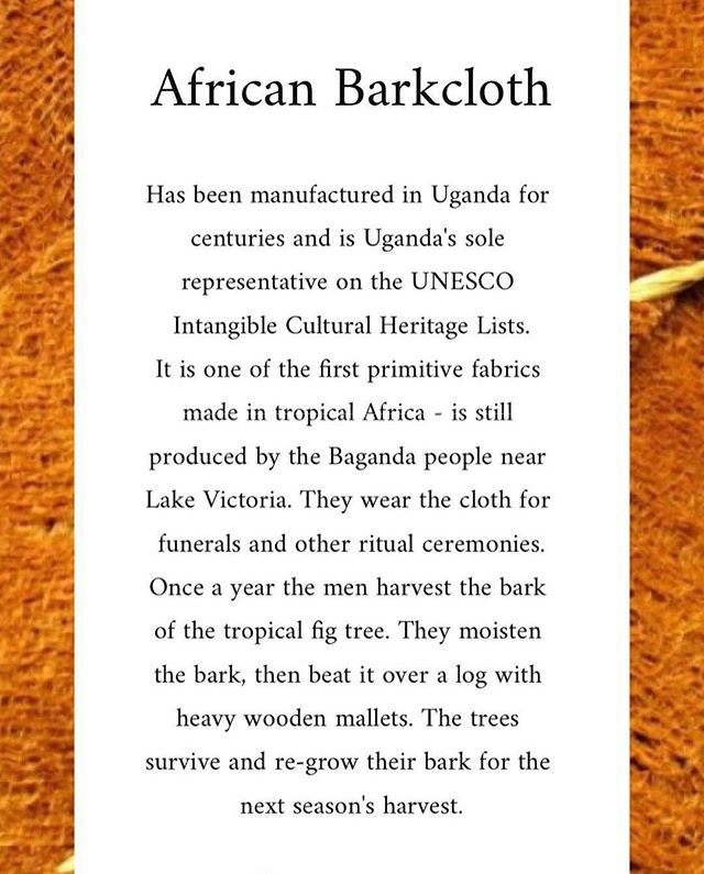 African Barkcloth ••••••••••••••••••••••••••••••••• #sustainablefashion #noticewhatyourcountryhastooffer #artisans #craftsmanship #unesco #ethicalfashion #inspiration