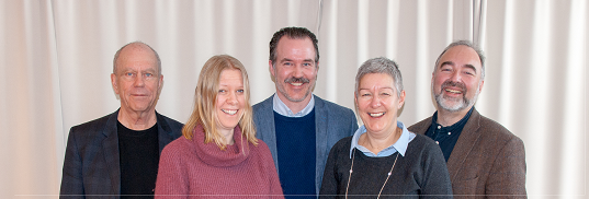 Fra venstre: Tellef Kvifte, Ida Habbestad, Ole Aastad Bråten, Kjærsti Gangsø og Johan Einar Bjerkem Ikke tilstede: Sigrid Moldestad