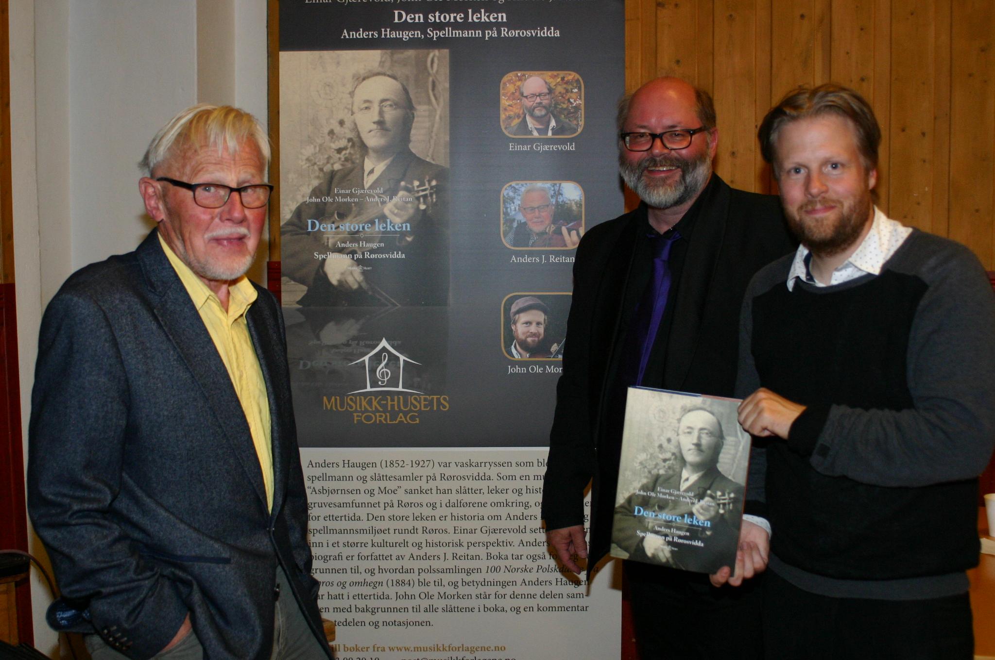 Anders J. Reitan, Einar Gjærevold og John Ole Morken. Foto: Jon Peder Aspås.