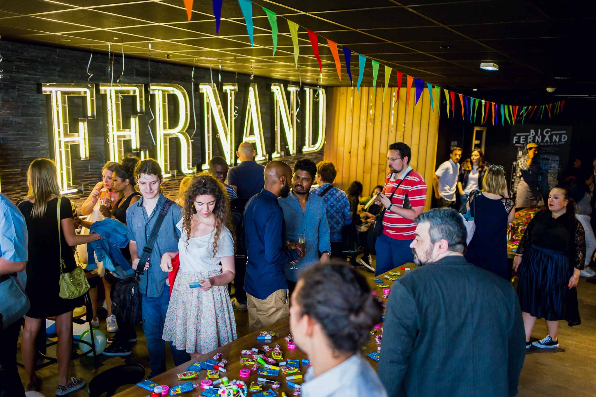 Official opening  Big Fernand  BHV Marais