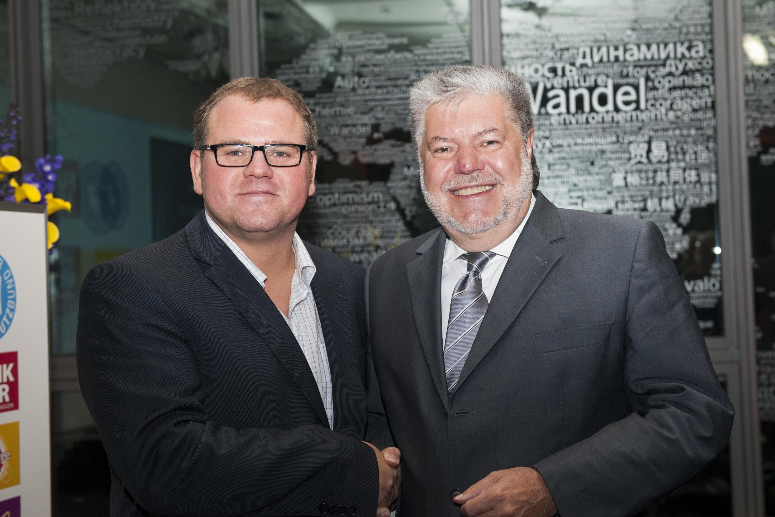 Markus Raabe & Kurt Beck (ehm.Ministerpräsident) in Berlin.