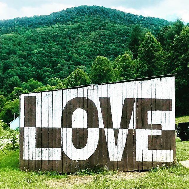 Asheville area Farm Tour - the love barn at Franny's Farm