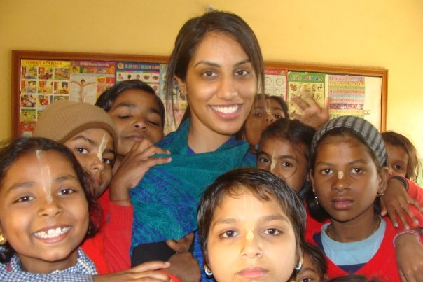 Sharan at the school in India