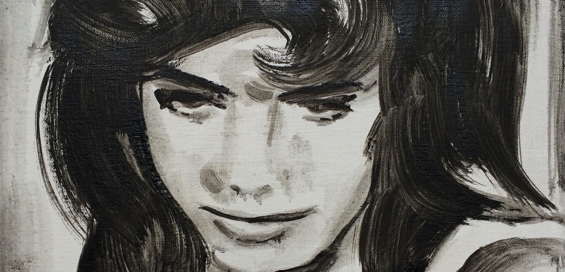 Billie Whitelaw, Charlie Bubbles (1967  ), (detail),2012, oil on canvas, 50x50cm,