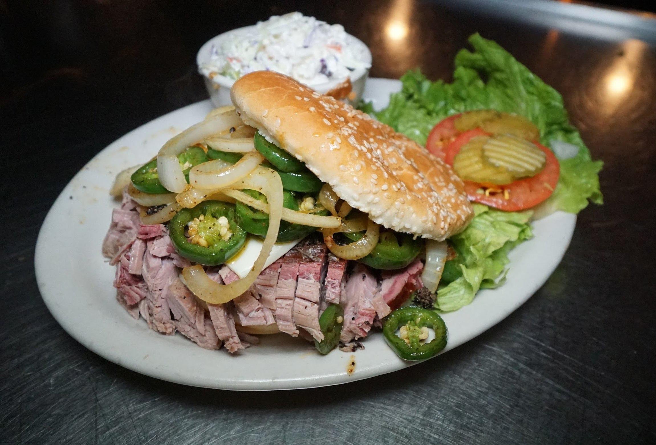 Rib hut El Paso brisket sandwich