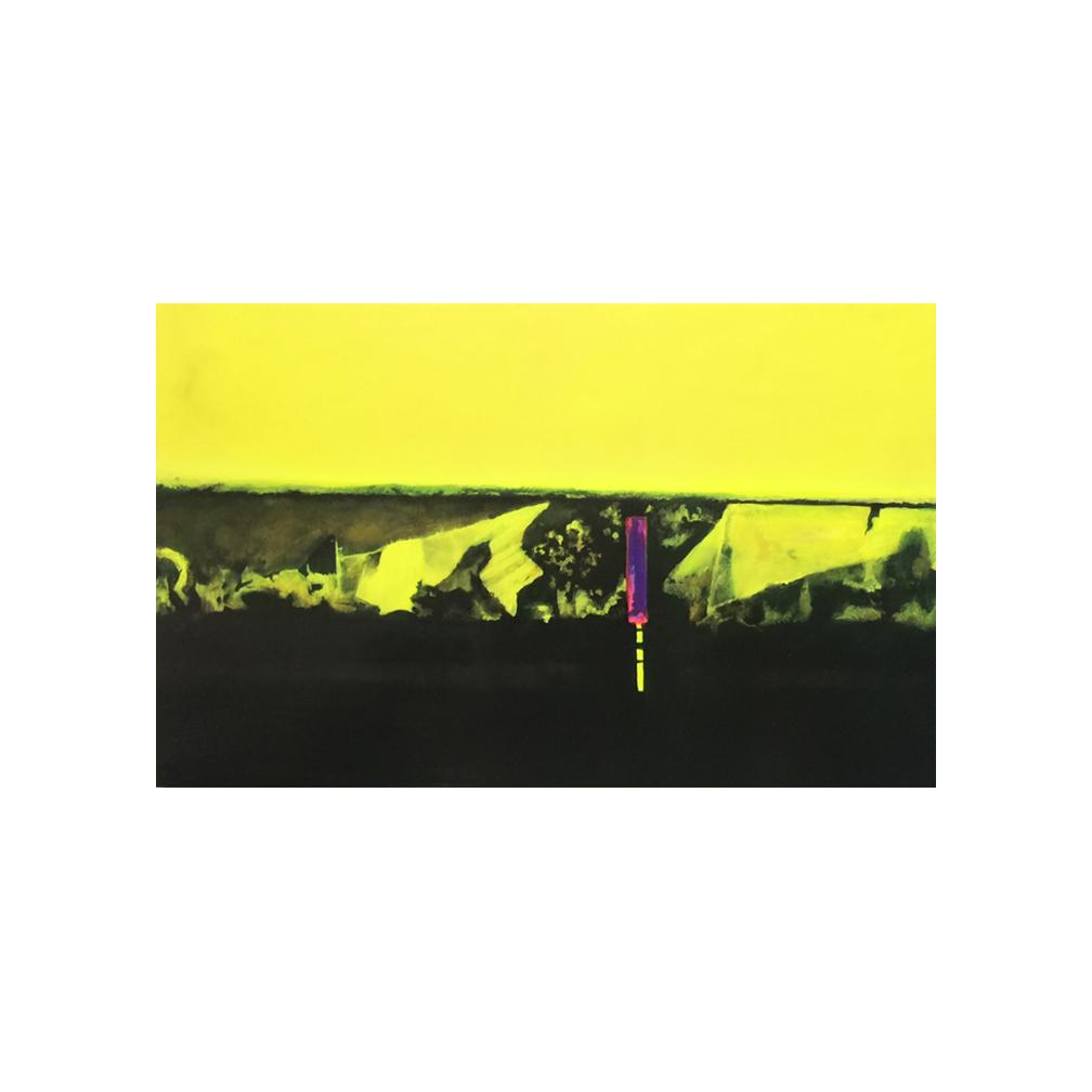 leicester square yellow_70cm x 120 cm _oil on alluminium_2015.jpg
