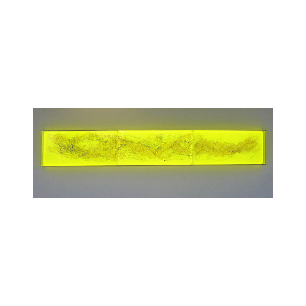 02_Oriental Luminescence_Ashen Landscape_300cm x 46 cm x 10 cm _Three layers of painted and fired glass with LED light panel__2012.jpg