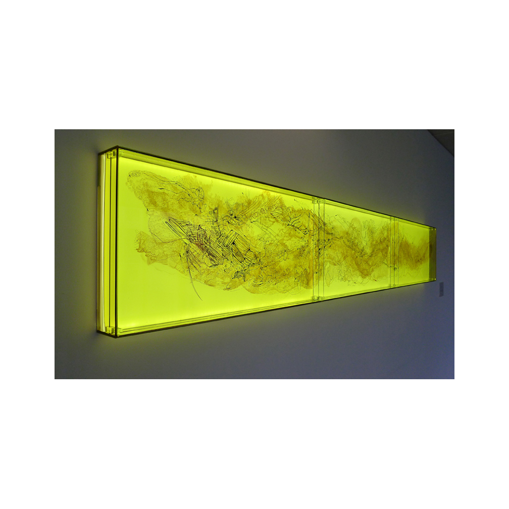05_Oriental Luminescence_Ashen Landscape_detail_300cm x 46 cm x 10 cm _Three layers of painted and fired glass with LED light panel_2012.jpg