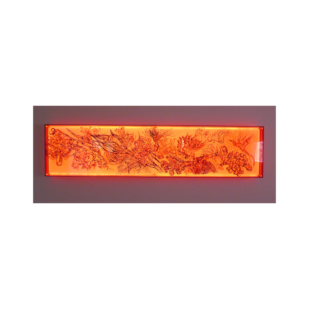 07_Oriental Luminescence_Crimson Flora_200 cm x 46 cm x 10 cm_2012.jpg