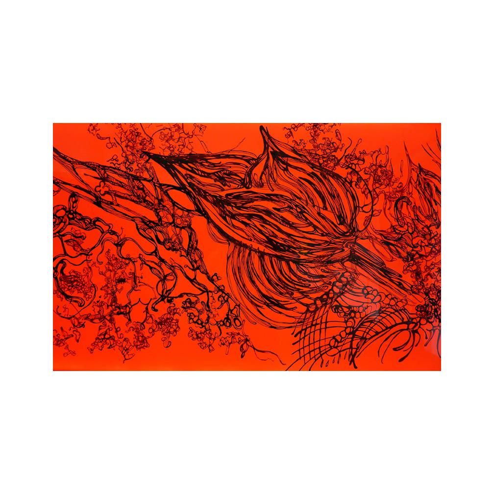 09_Oriental Luminescence_Crimson Flora_detail_200 cm x 46 cm x 10 cm_ details_2012.jpg
