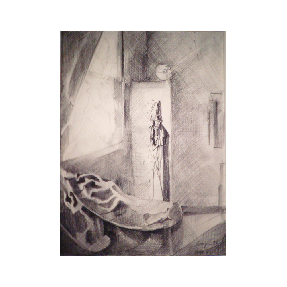 03_ At the open Window #1_After Vermeer_pencil on paper_ 25 cm x 15 cm _private collection Omaha_1996_email.jpg