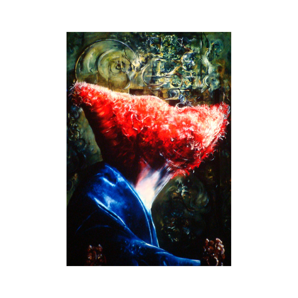 20_Lady in a Red Hat #4_After Vermeer_ oil on canvas_280 cm x 140 cm_ Private Collection LA_1996_email.jpg