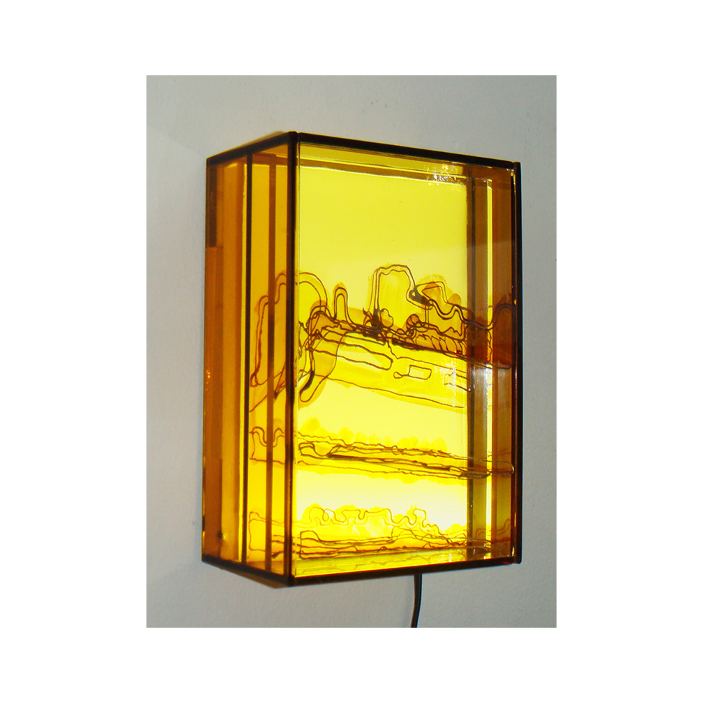 11_Southbank yellow #2_side view_9 cm x 13 cm x 5 cm_painted and fired glass with LED light panel_private collection USA_2013.jpg