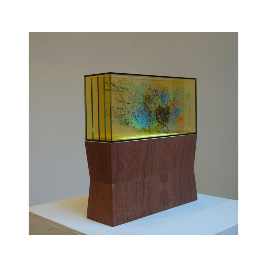 03_Luminous_19_side view_5 layers of painted and fired glass with LED light panel_27cm x 13 cm x 8 cm_plinth 27 cm x 15 cm x 8 cm _private collection UK_2011.jpg