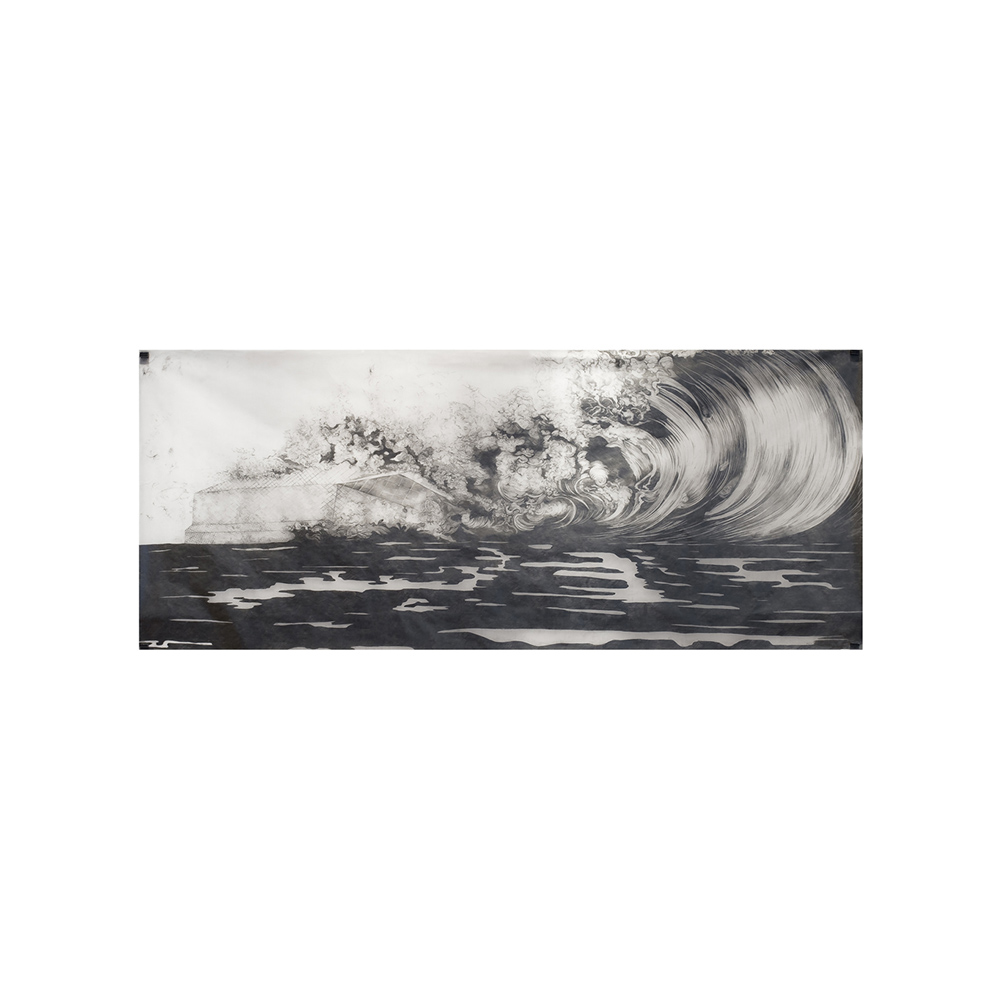 21_Deluge #3_ pencil on tracing paper_200 cm x 80 cm _exhibition View Chelsea Art Museum New York_private Collection William Louis Dreyfus_2007.jpg