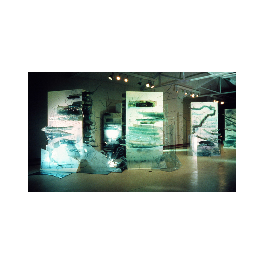 02_Storms_slumped and float glass held with  steel on wood_300cm x 600 cm x 400 cm_Temporary Installation_Salina Art Center Salina Kansas_1999_email.jpg