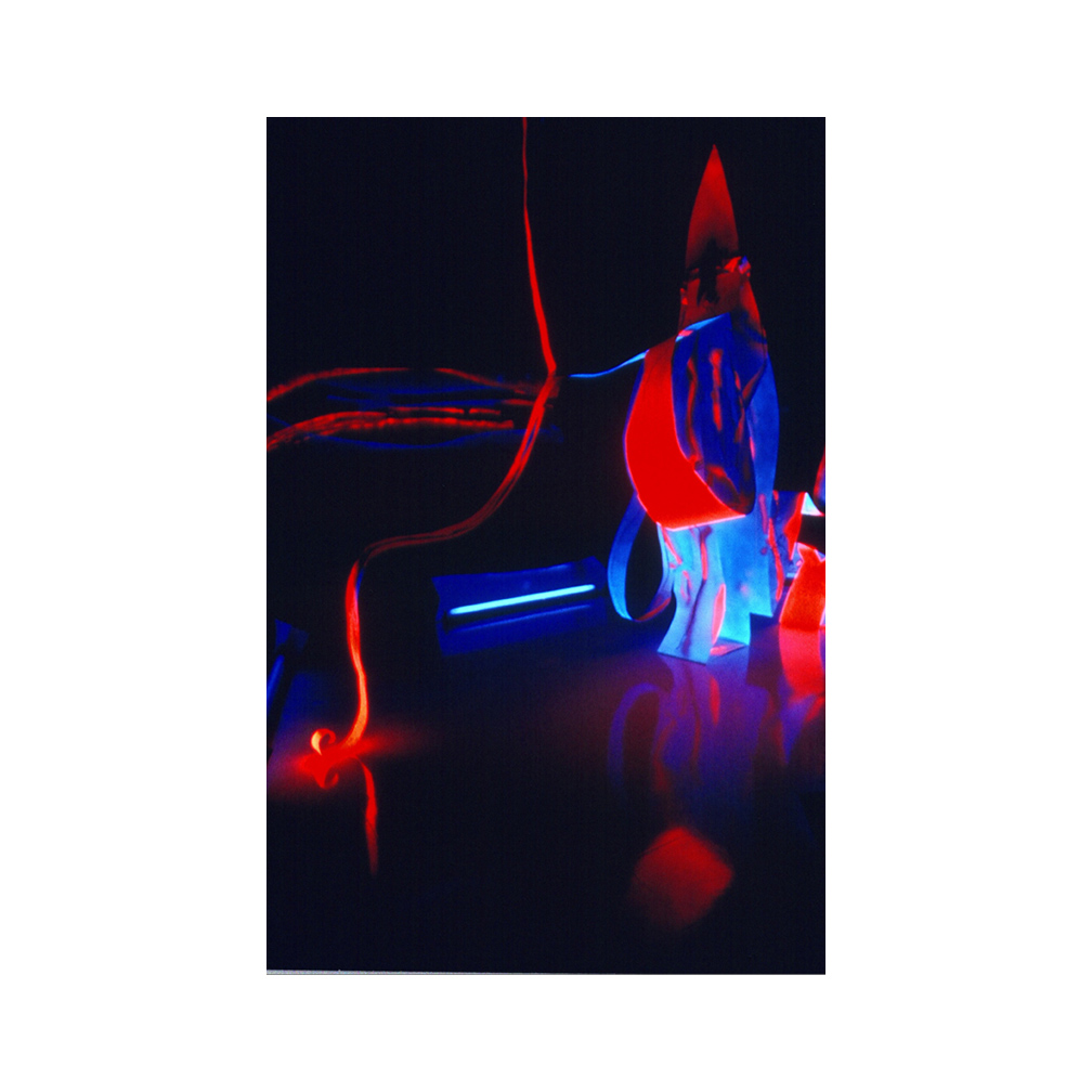 19_Mother and Child_ alluminium flourescent paint and black light_300 cm x 150 cm x 50 cm_Leedy-Voulkus Gallery, Kansas_email.jpg