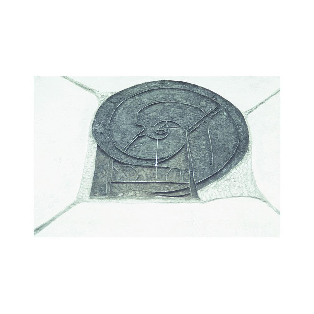 31_Time _graphite and glass _100 cm x 100 cm _Temporary installation Rome_1991_print.jpg