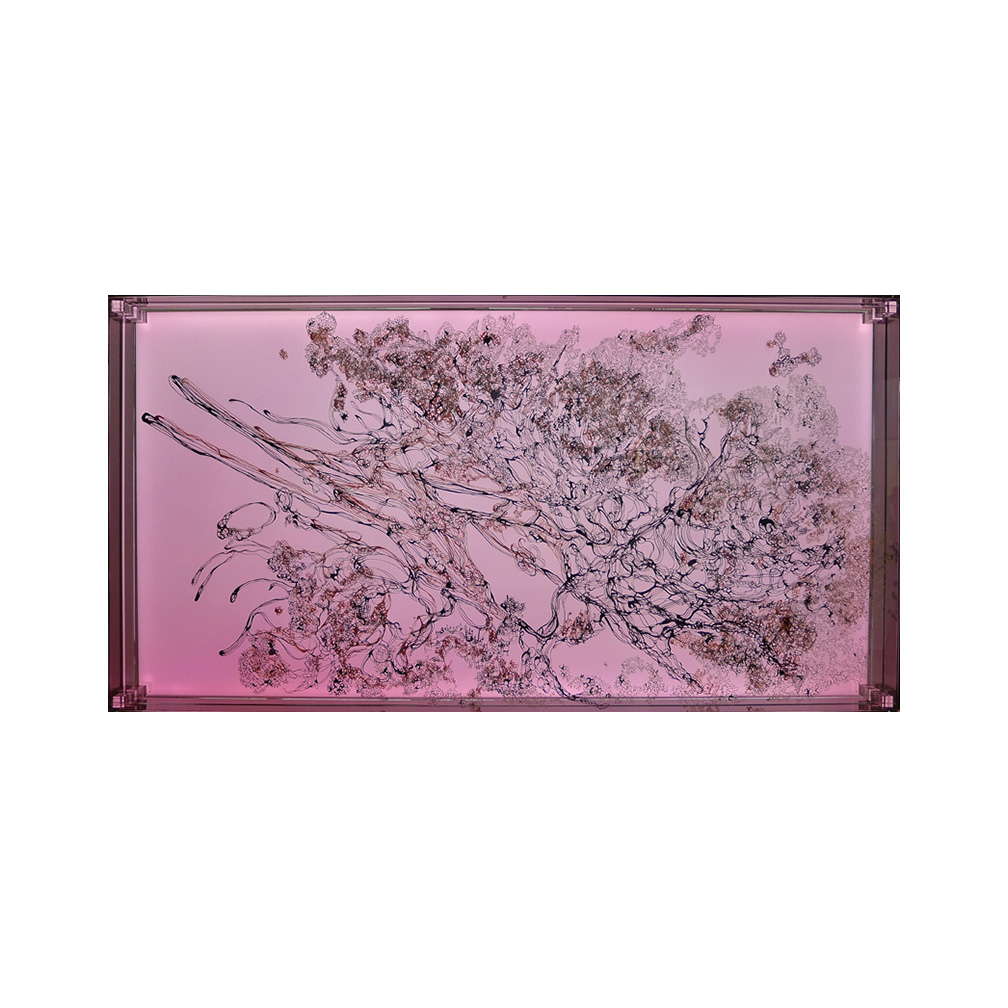 14_Oriental Luminescence_Magenta Flora_90 cm x 46 cm x 10 cm_2012.jpg