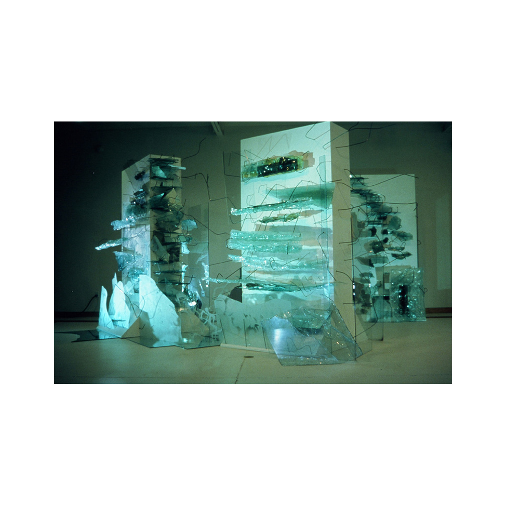 01_Storms_slumped and float glass held with  steel on wood_300cm x 600 cm x 400 cm_Temporary Installation_Salina Art Center Salina Kansas_1999_email.jpg