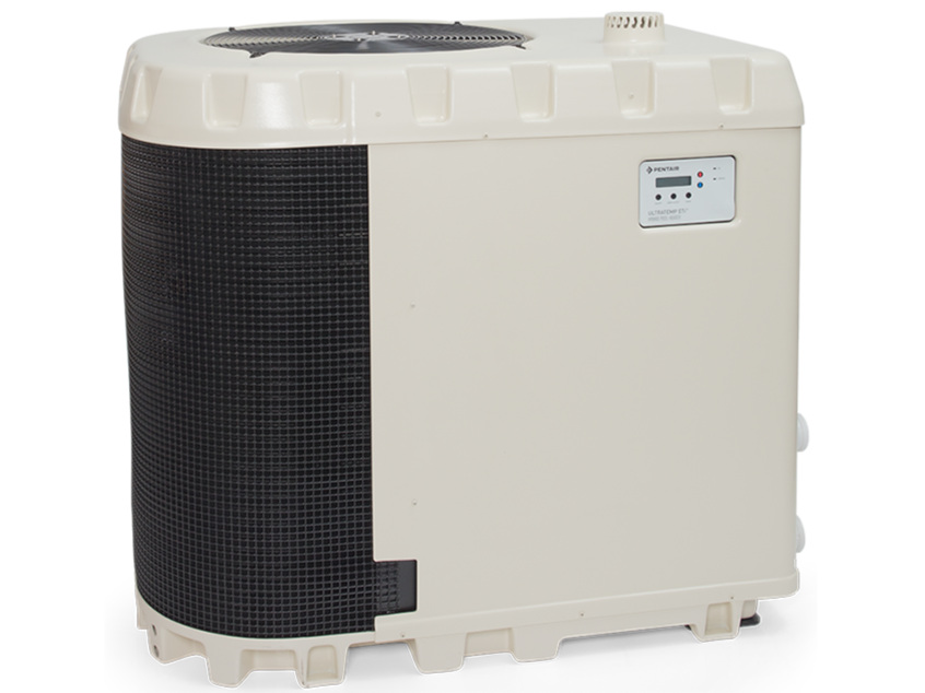 UltraTemp ETi Hybrid Pool Heater NEW - The UltraTemp ETi Hybrid Pool Heater combines a pool heat pump and an ultra-high-efficiency, gas-fired heater in one unit.