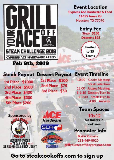 Grill Your Ace Off Steak Challenge 2019