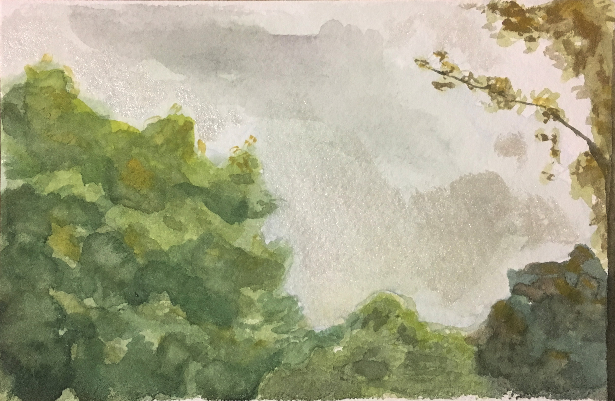 Plein air watercolor, Sewanee, TN (2019)