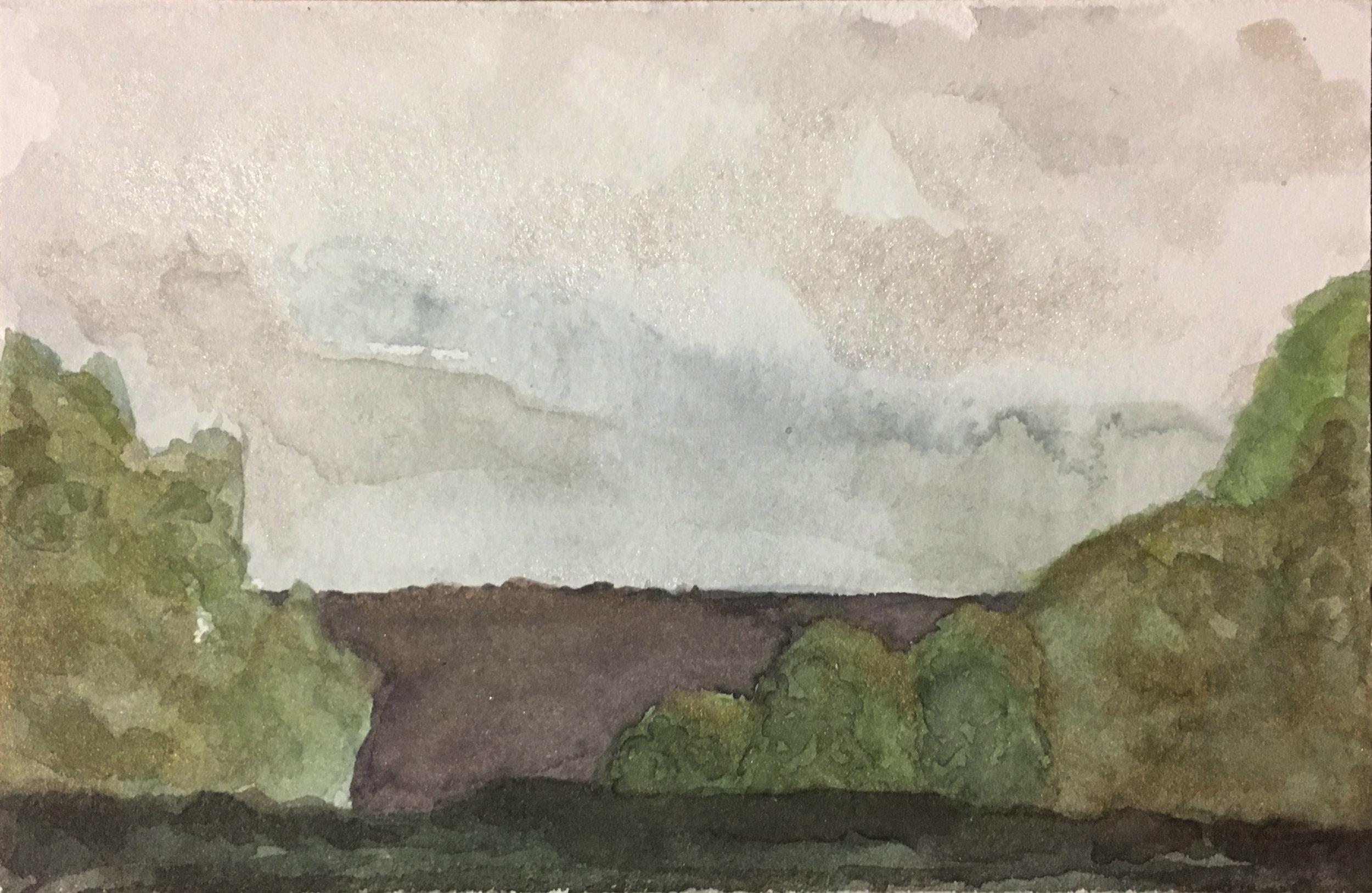Plein air watercolor, Sewanee, TN (2019)