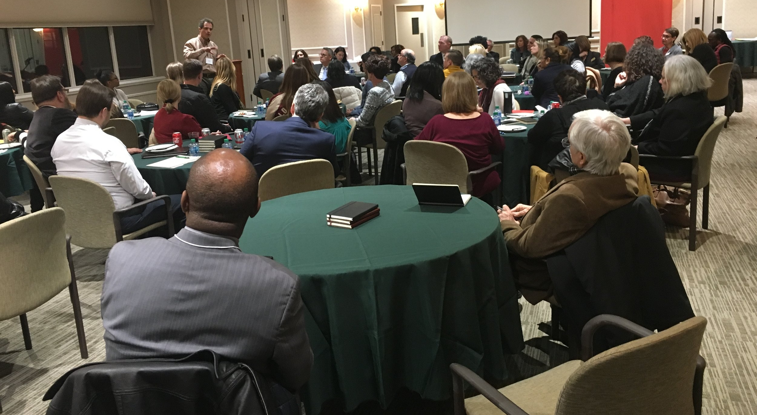 Community members participate in the Systems Leadership Workshop held in late January on St. John's University's Staten Island campus.