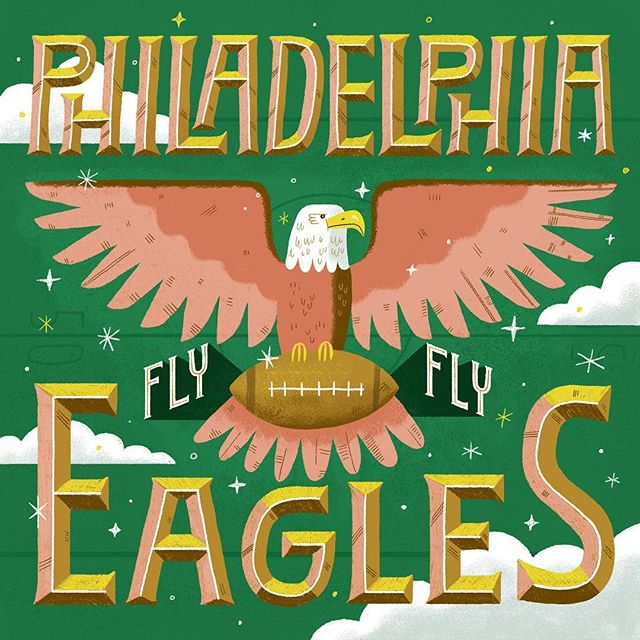 I'm not a football fan by any means but I'm happy the Eagles are in the Super Bowl! 🏈  #superbowl #eagles #flyeaglesfly #phily