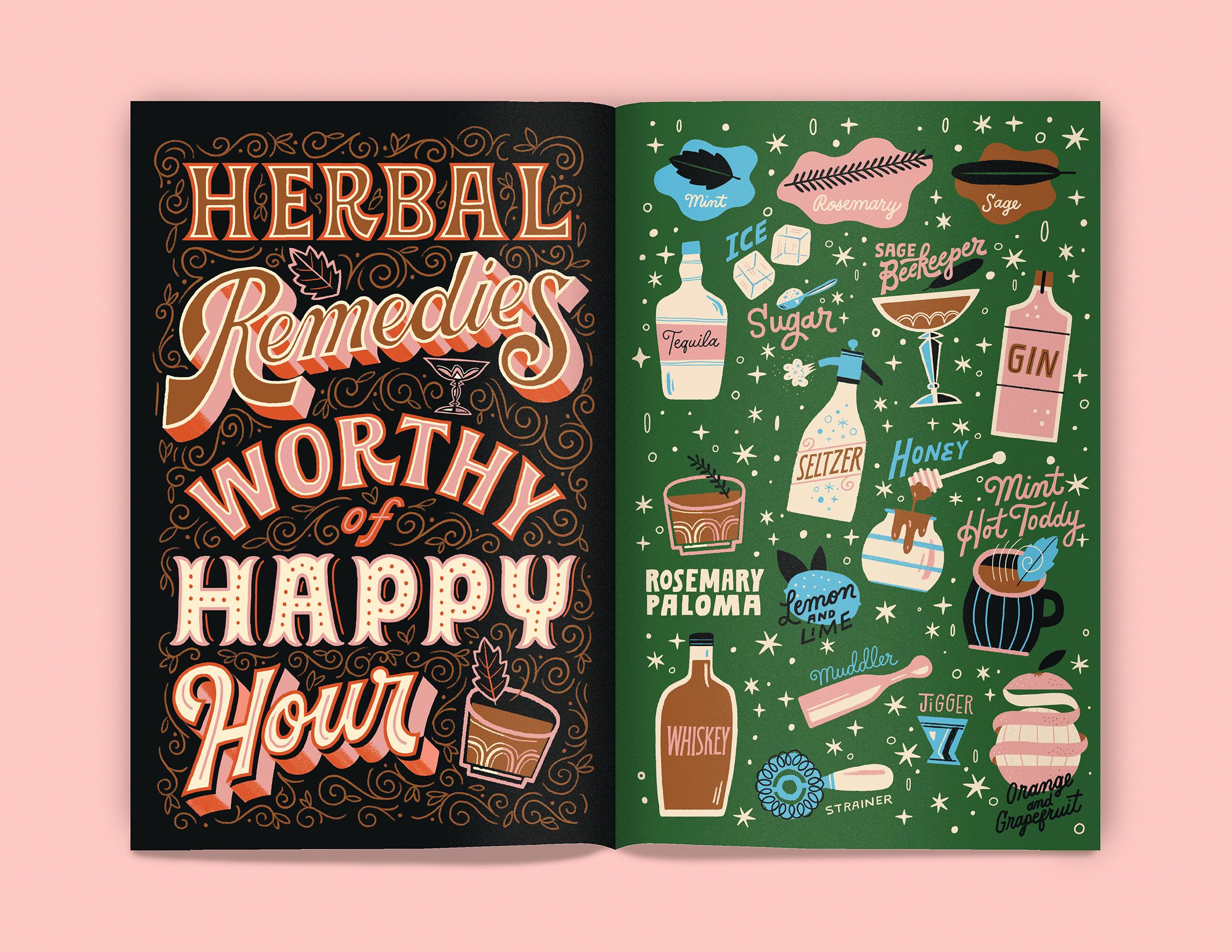Herbal Cocktail Sampler by Mary Kate McDevit