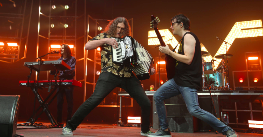 Rivers Cuomo and Weird Al rocking it