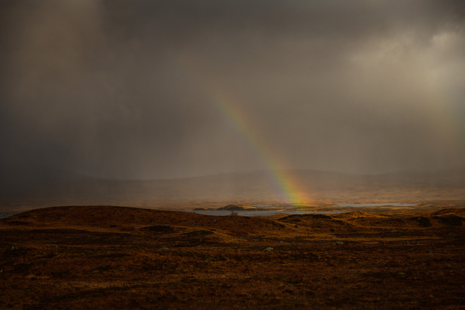 Rainbow over Rannoch Moor