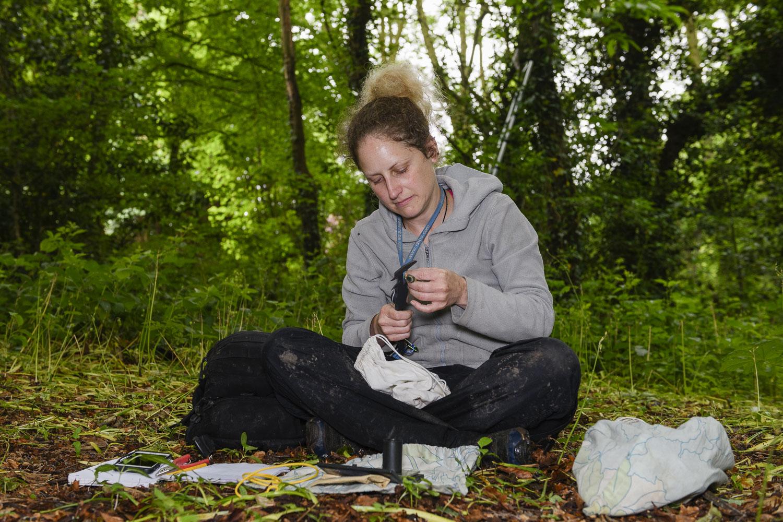 Vicki Pattison Willits undertaking field research